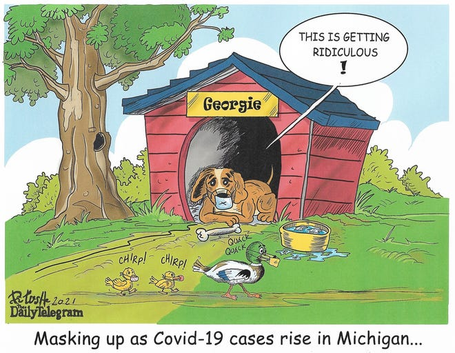 Masking up as COVID-19 cases rise in Michigan…