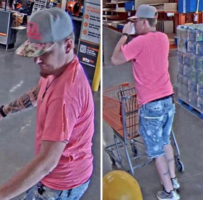 Gonzales Police released surveillance images of a suspect at Home Depot.