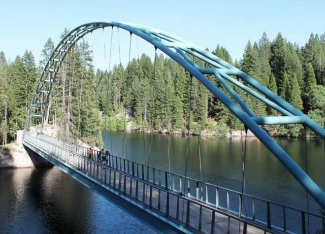 A Siskiyou County ordinance bans jumping off the Wagon Creek Bridge over Lake Siskiyou.