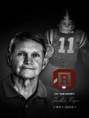 In memory of Jackie Pope.
