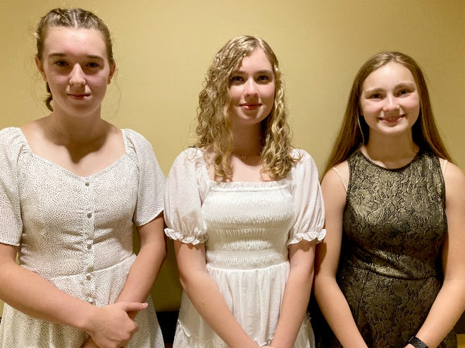 Quinn Thibault, incoming freshman, is the freshman class president; Libby Schaffer, second-year class representative, is the sophomore class secretary; Grace May, second-year class representative, is this year's sophomore class vice-president.