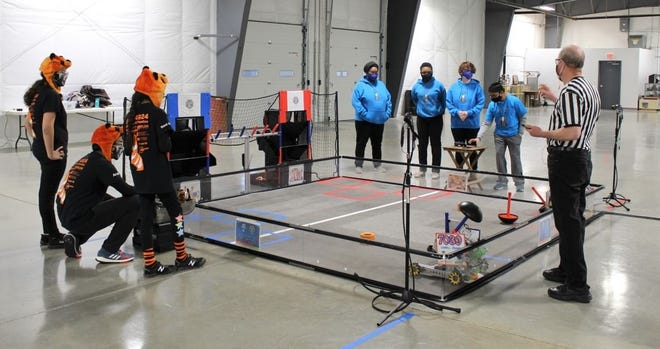 FIRST Tech robotics challenge held at Keystone Truck and Tractor Museum in February of 2021 in Colonial Heights, Va.