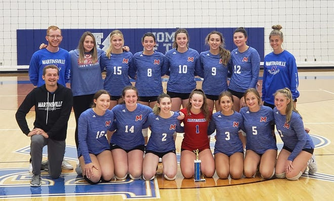 The Martinsville volleyball team stayed undefeated, going 4-0 in the Franklin Central Tournament on Saturday. The four wins bring the team's record to 6-0.