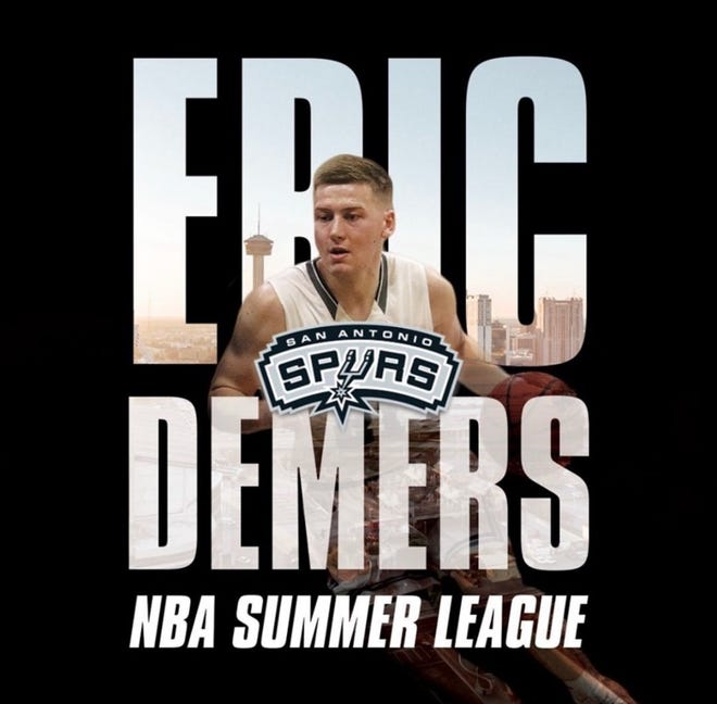 Acushnet native Eric Demers played for the Spurs in the NBA Summer League.