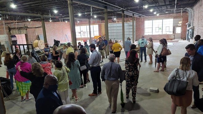 Participants in the three-day Main Street Alabama conference in Gadsden last week were some of the first people to take a loft tour at 612 Broad St.