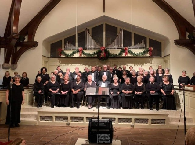 Alamance Chorale Christmas concert, December 2019, Graham Presbyterian.