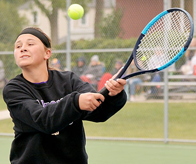 Leyla Meester helped Watertown High School's girls tennis team win three out of four duals last week and is one of the top area performers of the week.