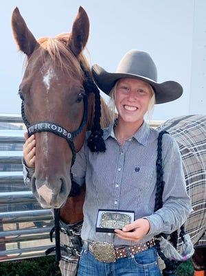 Kylie Wittnebel of Castlewood had a strong showing over the weekend in the 50th South Dakota 4-H Finals Rodeo at Fort Pierre. Wittnebel finished third overall in senior goat tying. She also was third in the second go round of goat tying and eighth in the second go round of pole bending. She was one of 12 area competitors who recorded top 10 finishes in average (overall).
