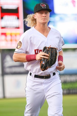 In 109 games split between low Class A Carolina and advanced Class A Wisconsin, Joey Wiemer hit a cumulative .295 with 27 home runs and 77 runs batted in.
