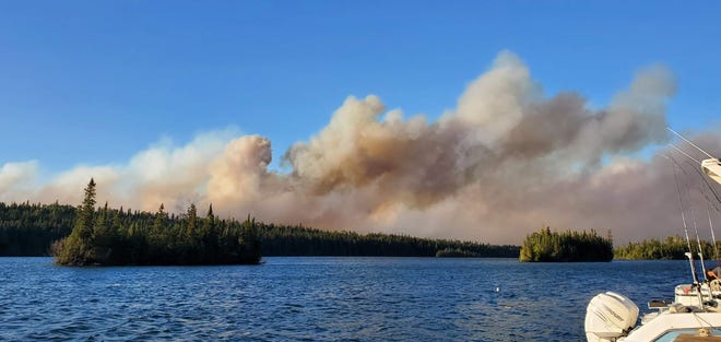 Isle Royale National Park is experiencing a wildfire on the island's east end.The National Park Service has closed  some trails and campground areas because of the fire, which is approximately 200 acres in size.