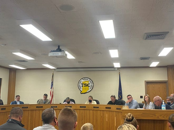 Members of the TSC board discuss the reopening plans for the 2021-22 school year before voting in favor of a mask mandate. Aug. 23, 2021