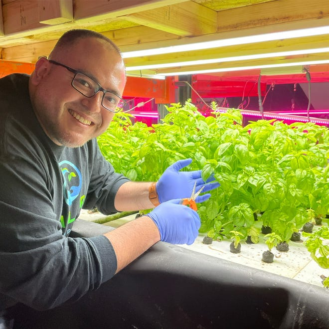 Patrick Hansen, president and CEO of Valor Aquaponics in Pewaukee, started in aquaponics as a hobby. With a background in the military, he knew how to make much of the setup work.