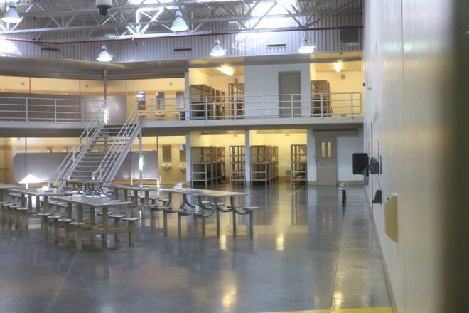 A January 2020 photo depicts the interior of the San Juan County Adult Detention Center.