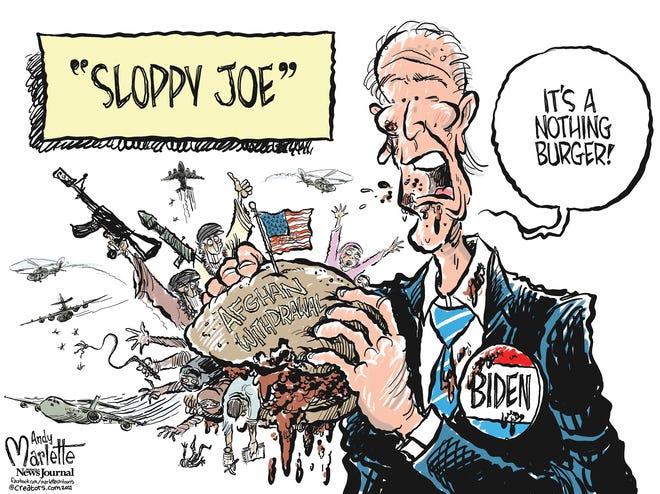 Marlette cartoon: Biden forced to swallow sloppy Afghanistan withdrawal