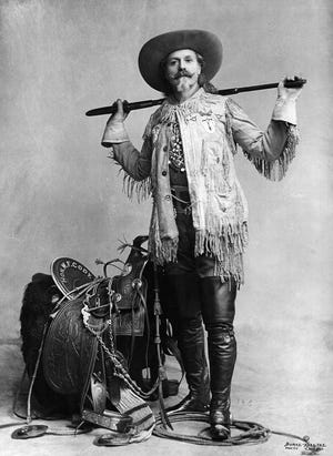 Buffalo Bill Cody was one of the most famous figures of the Old West. His legend spread when he was only 23 years oldthanks to news accounts and coverage in dime story novels written in the late 19th century to excite readers. Shortly thereafter Bill started performing in wild west shows that displayed cowboy themes and episodes from the frontier.
