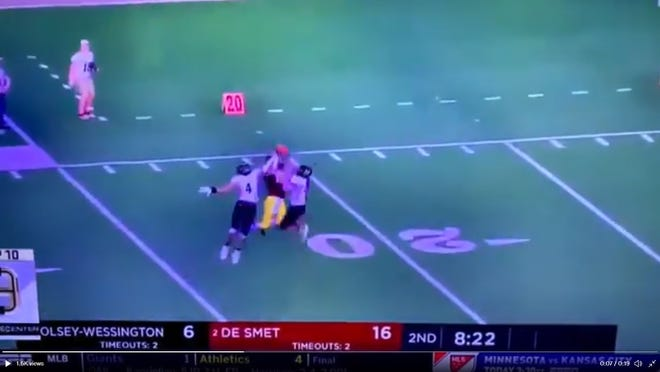 De Smet utility player Kalen Garry's catch against Wolsey-Wessington was No. 9 on the SportsCenter top 10 plays of the day on Friday.