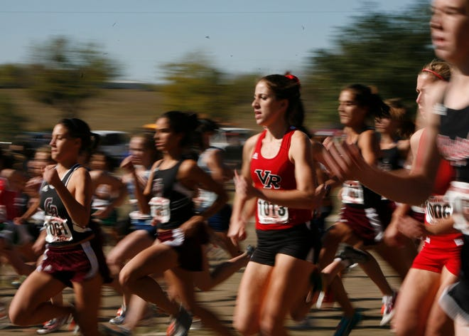 Cross-country runners compete at the UIL state meet.