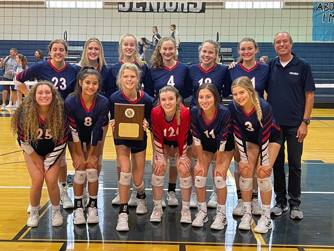 The Round Rock Christian Academy volleyball team won the silver  bracket at the Bastrop tournament this past weekend.