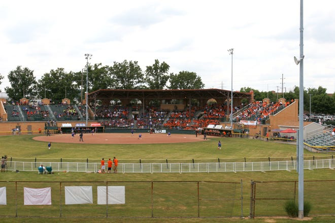 Strasburg and Crestview high schools face off in a state semifinal softball game at Firestone Stadium in Akron in May 2012. The city of Akron, which owns the stadium, will take over programming there next year after its current contract with the Racers Foundation expires.