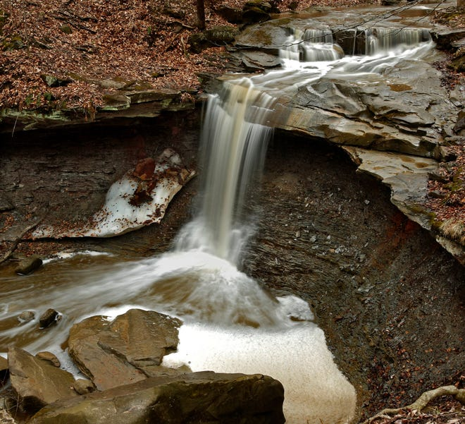 Photo of Blue Hen Falls taken on the Buckeye Trail in the Cuyahoga Valley National Park on Tuesday, April 7, 2015.