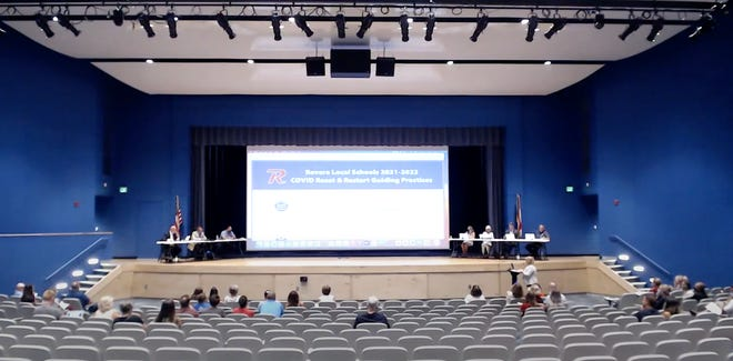 Parents spoke at the Revere school board meeting on Monday both for and against mandatory masks in schools. The board decided to recommend but not require masks.
