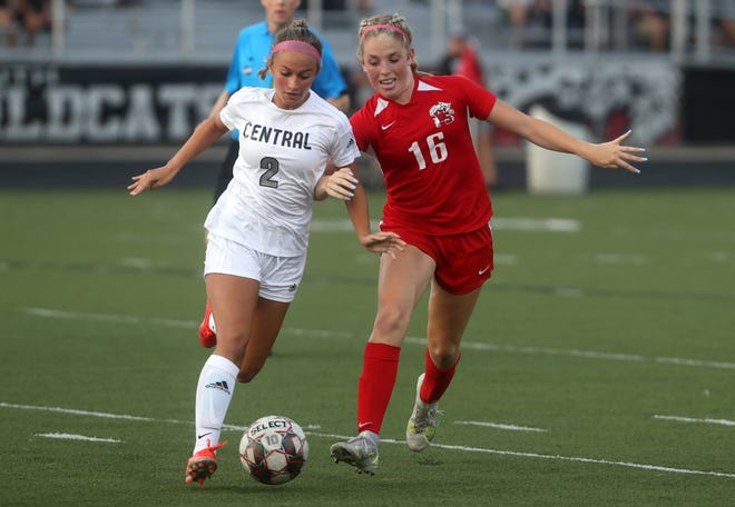 Central's Natalee Koenig and South's Abby Colvin are both among the top returnees for their teams. Central is trying to improve on a 5-10-1 finish a year ago, while South went 4-13 last season.