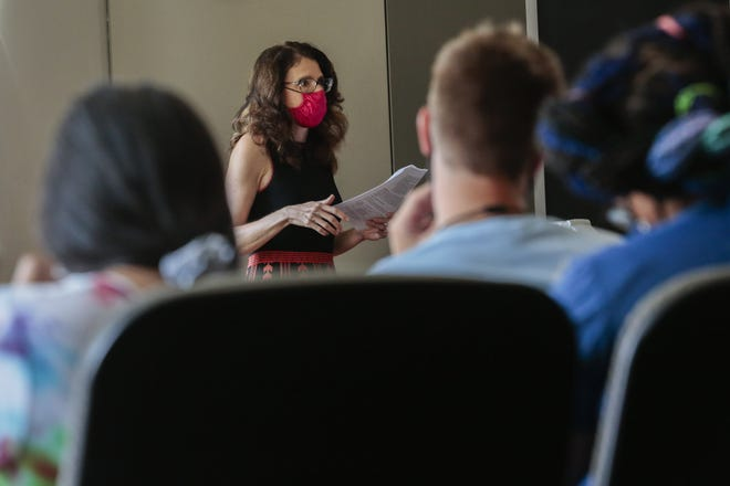 Robin Judd, an associate professor of history, teaches her History of the Holocaust class in August at Ohio State University. Judd is a graduate of the Wexner Graduate Fellowship program.