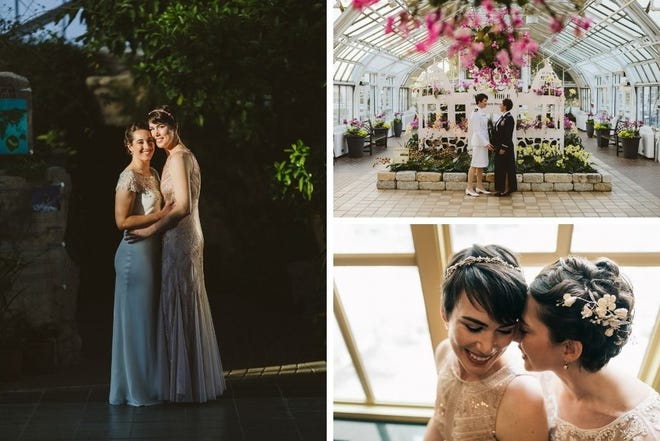 Lillian Dubiel and Laura Jones married on Feb. 16, 2020, at Franklin Park Conservatory.