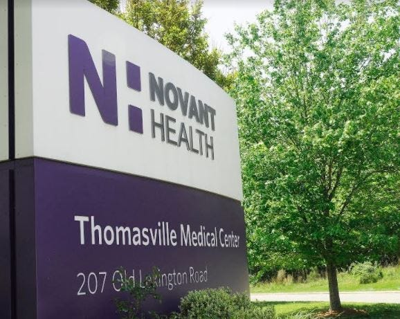Novant Health Thomasville Medical Center and Atrium Health Wake Forest Baptist Lexington Medical Center have both changed their visitors policy due to an increase in COVID-19 cases