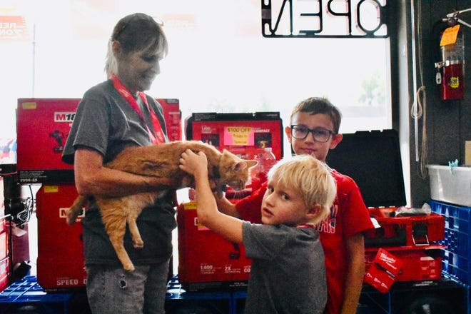 """Shop cat """"lil foot"""" was a show stealer for many visiting guest of the anniversary event."""