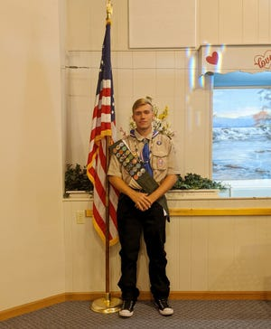 Brett Miller, of Climax Springs received the highest rank you can earn in Scouts, Eagle Scout.
