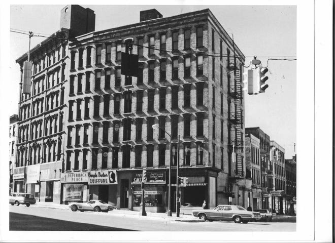 Downtown Utica had many office buildings in the 1940s and 1950s and one of the busiest was the Gardner Building on the southwest corner of Genesee and Columbia streets. It was torn down in the 1970s to make room for a Sheraton Hotel (today the site is occupied by Delta Hotels Marriott). In its heyday, the Gardner was the home of many professional offices and businesses. On the ground floor was the popular England & McCaffrey drug store that featured an old-fashioned soda fountain.