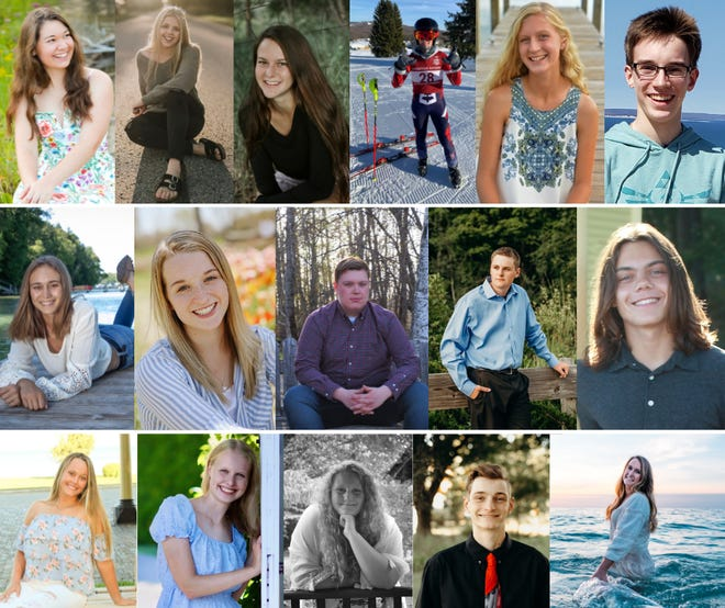 Headshots of the many students who received scholarships.