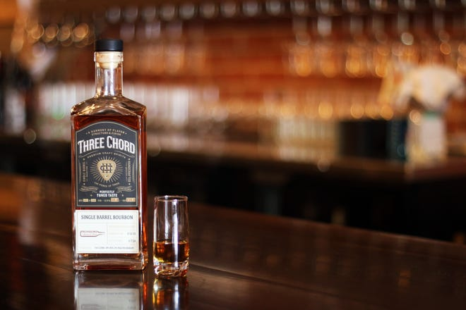 """The latest bourbon """"store pick"""" release from Three Chord Bourbon."""