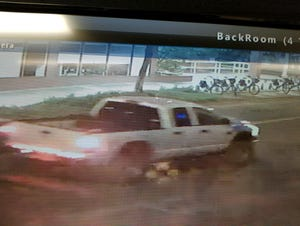 Eugene police released this image of the truck involved in an alleged hit and run incident Sunday, Aug. 22, 2021 on  West 11th Avenue.