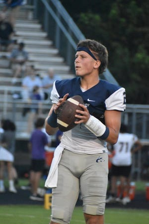 Three-star 2023 quarterback and N.C. State commit Lex Thomas made his first varsity start for Heritage on Friday, Aug. 20, 2021, at home against Holly Springs. The moment was a long time coming for Thomas, a junior whose older brothers Thayer and Drake both starred at Heritage in Wake Forest before joining the Wolfpack.