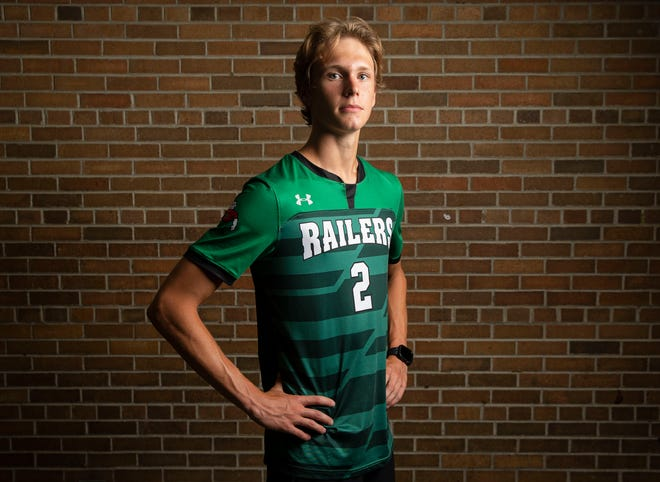 Lincoln's Garrett Slack owns the school records in soccer for goals scored in a season and in a career and will also compete in cross country this fall and track in the spring.