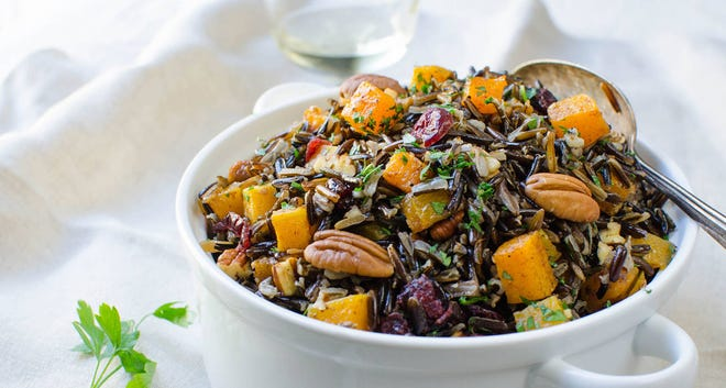 Butternut Squash and Wild Rice Pilaf