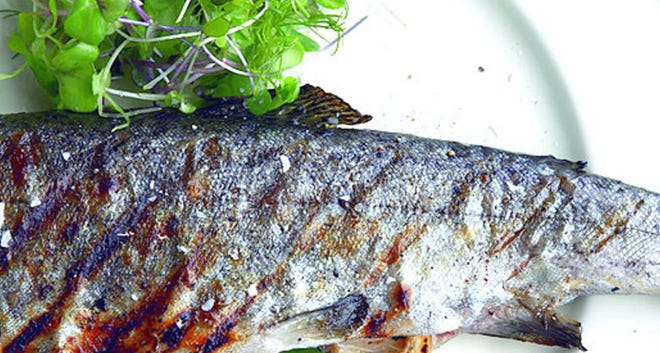Grill Trout With Lemon And Fresh Herbs