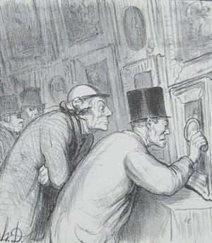 Well, if you look very closely, you might end up finding some quality! The color seems to be good. [Well, on Taking a Closer Look by Honore Daumier]