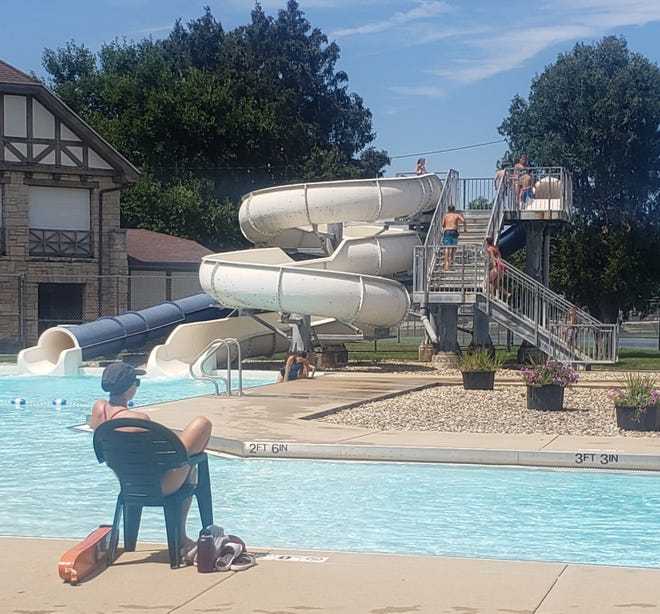 Residents enjoyed the Oasis Family Aquatic Center on its final day of the season Aug. 14. The swimming facility, which was completed in 1999, has a leak somewhere underneath it that could cost tens of thousands of dollars to repair.