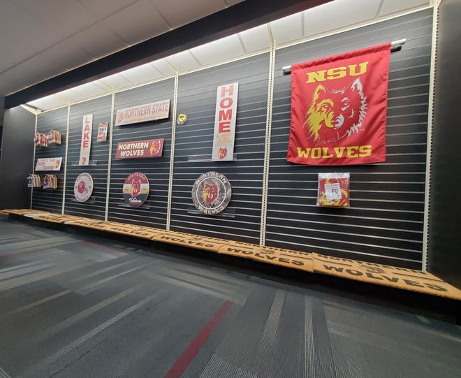 The NSU Wolf Shoppe has added home decorations for Northern State fans. It's part of a shift in business after the shop no longer has physical textbooks in its store.