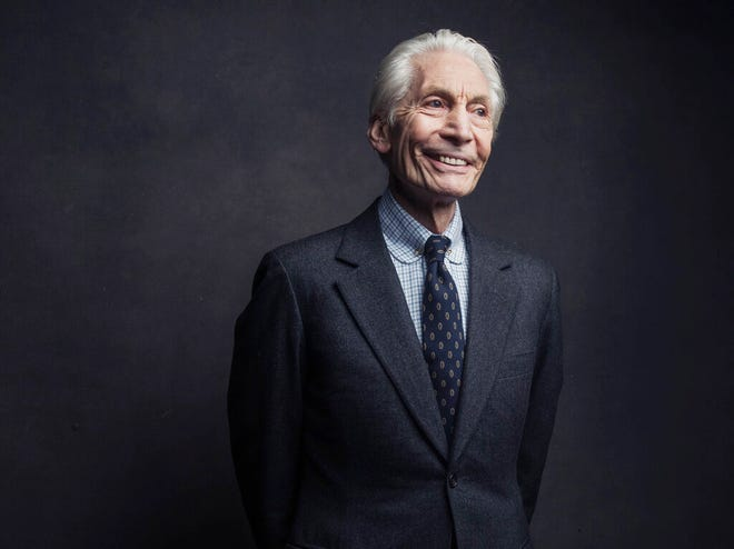 Charlie Watts of the Rolling Stones poses for a portrait on Nov. 14, 2016, in New York. Watts' publicist, Bernard Doherty, said Watts passed away peacefully in a London hospital surrounded by his family Tuesday. He was 80.