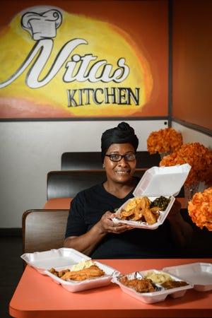 Anita Tucker, owner of Nita's Kitchen at 8200 Cliffdale Road.