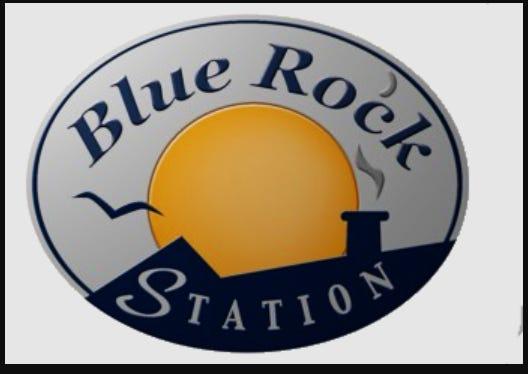 Blue Rock Station logo.