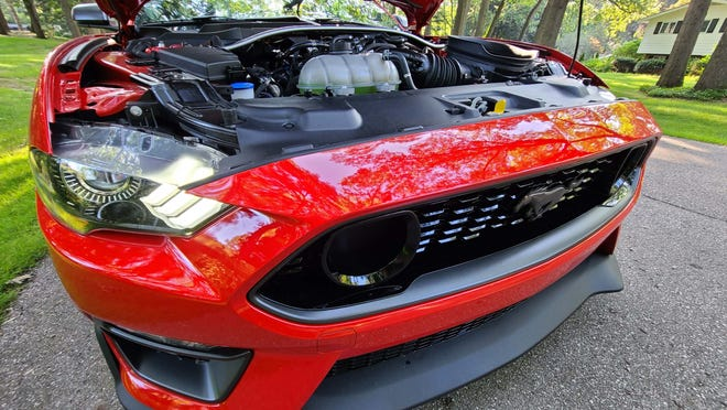 """You'll know the 2021 Ford Mustang Mach 1 by its signature """"nostrils"""" in the front grille."""