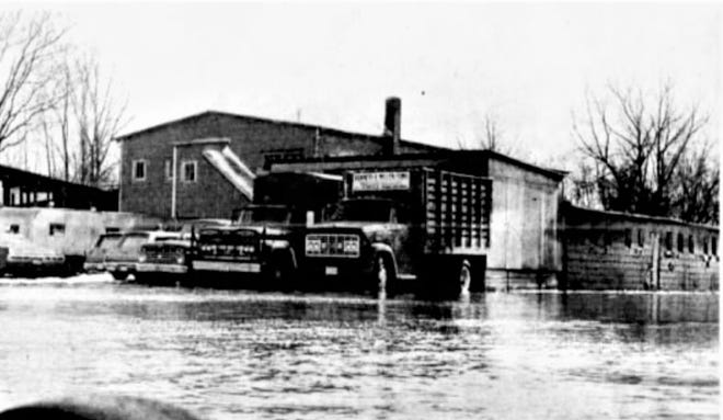 During the 1959 flood in Fremont, the livestock exchange was also flooded.