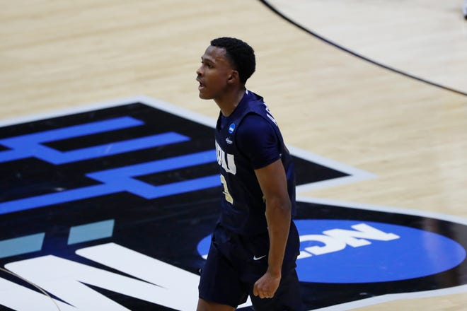 Oral Roberts Golden Eagles guard Max Abmas (3) led the NCAA (Division I) in scoring in 2020-21. CSU will host Abmas and Oral Roberts to open the 2021-22 season.