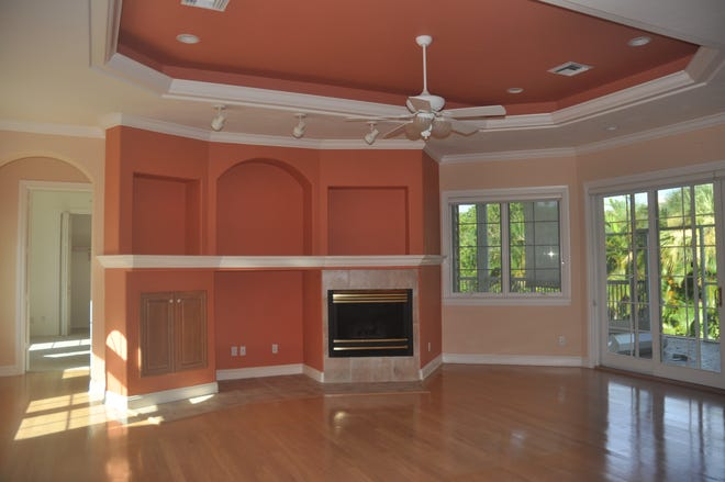 This was what the great room looked like a few hours before the home was demolished.