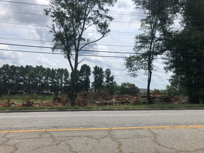 Trees were recently cleared on property along Pelham Road near Haywood Road